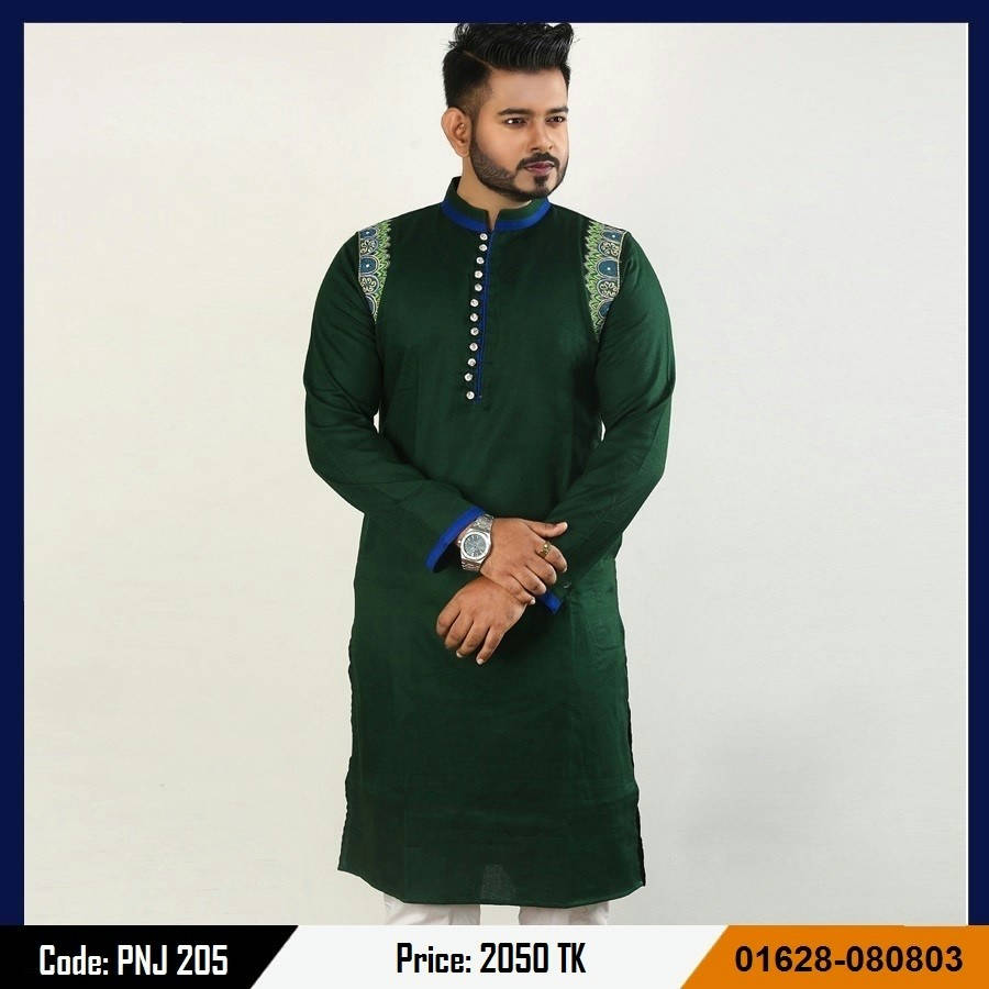 Bponi | Stylish and Exclusive Men's Cotton Punjabi with embroidery