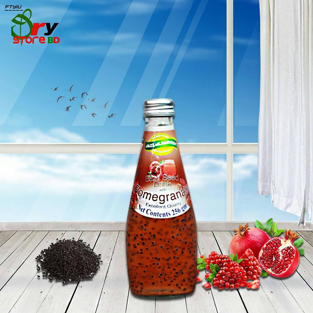 Bponi   American Harvest Basil Seed Drink (Pomegranate)