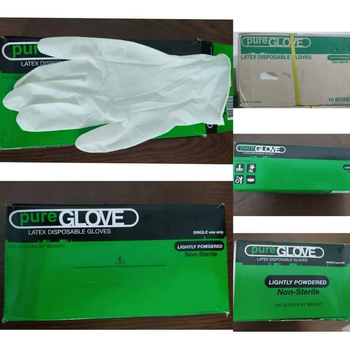 Bponi | Medical Gloves Pure Gloves _ Latex Lightly Powdered
