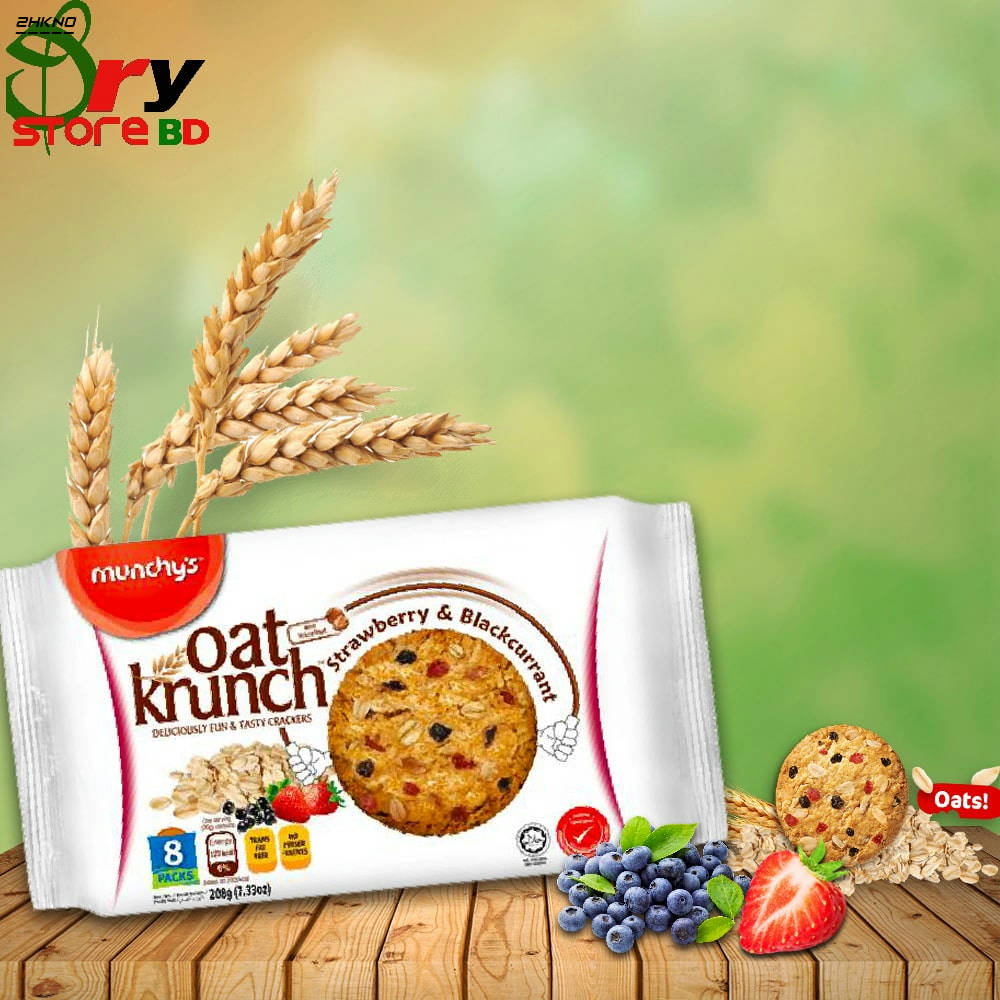 Bponi | Munchy's Oat Krunch Strawberry & Blackcurrant Biscuit