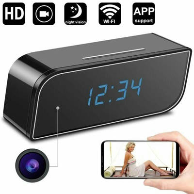 Bponi - Wifi Ip P2p Spy Night Vision Clock Video Camera 720p Hd With Motion Detection679 - 6-Anasg