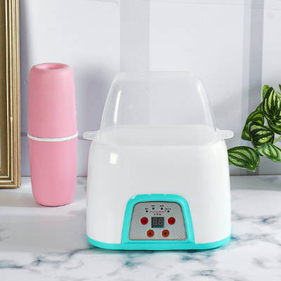 Bponi - 220V Multi Functional Electric Milk Double Bottle Warmer And Food Portable Milk Steam Sterilizer Baby Care Food Heating - Blue