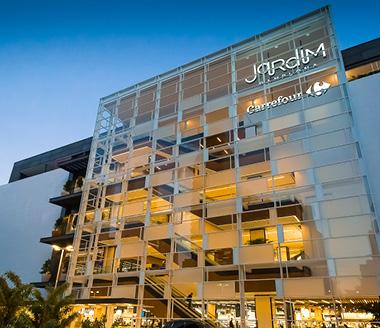 fachada do Jardim Pamplona Shopping.