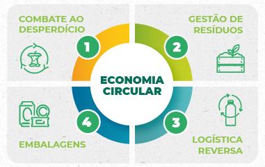 Gráfico Economia Circular do grupo Carrefour.