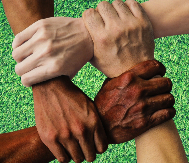 Igualdade racial mão unidas