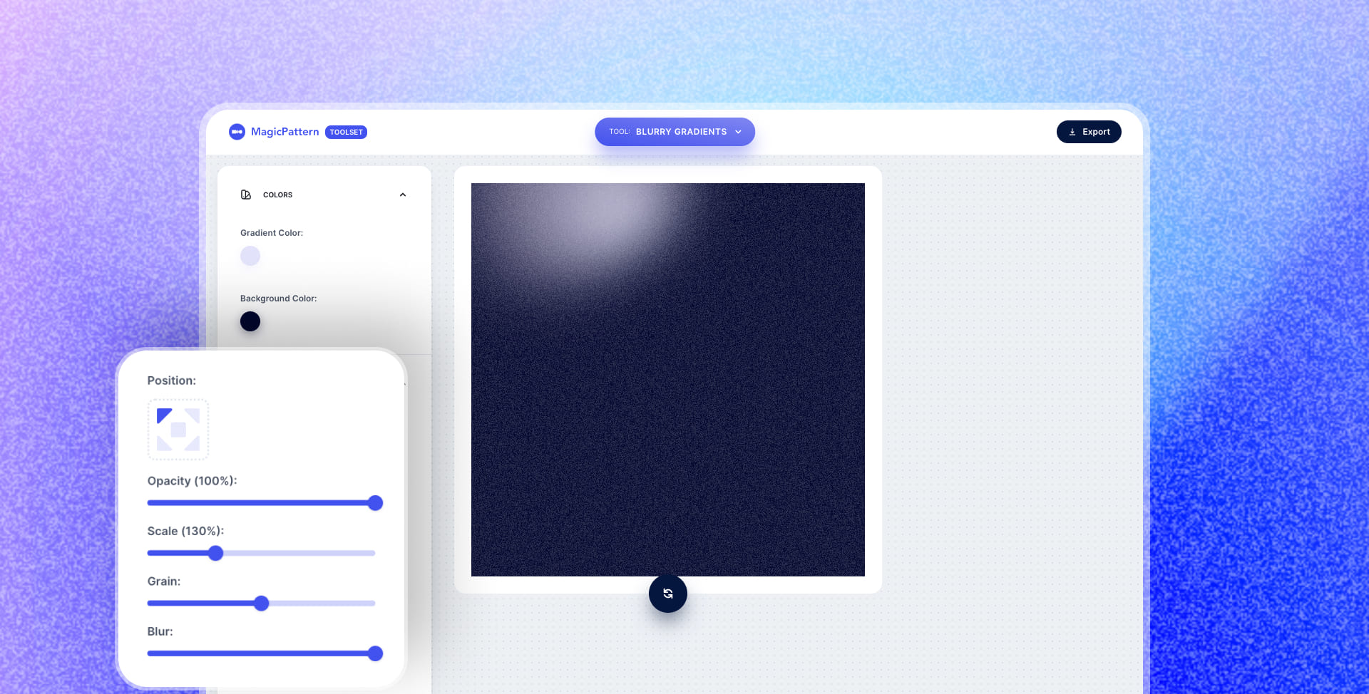 Positioning & opacity for Blurry Gradients