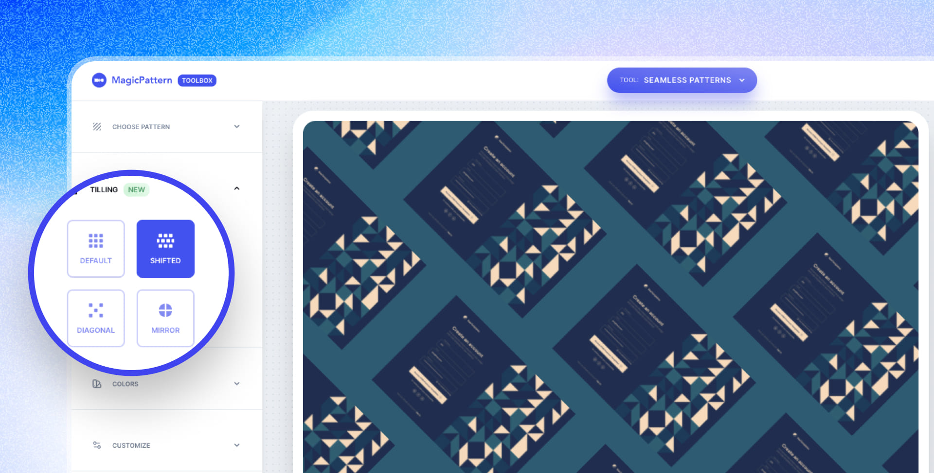 Custom Tiling for Seamless Patterns