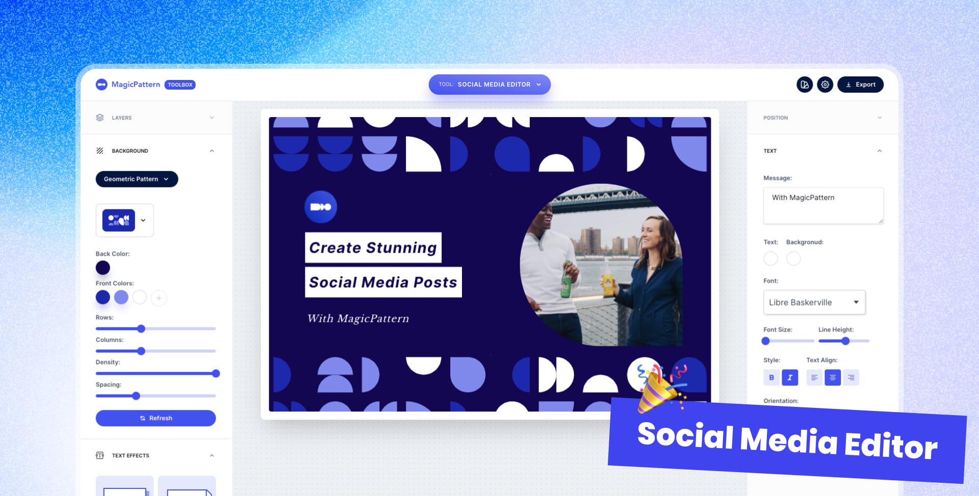 🎉 New tool: Social Media Editor