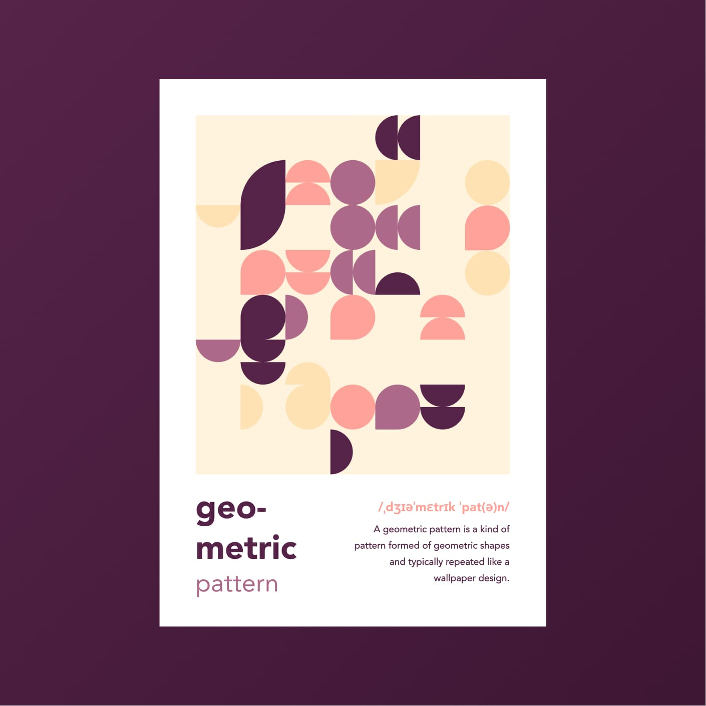 Neat poster design with a geometric pattern
