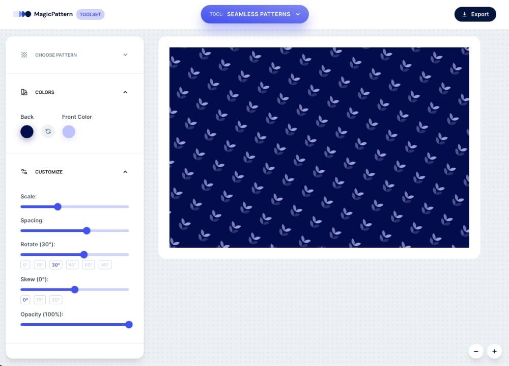 Seamless Pattern Generator