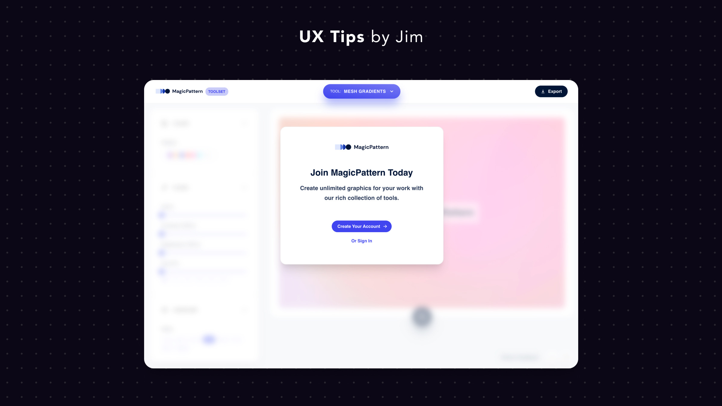 Overlay Modal to Hint Your Product
