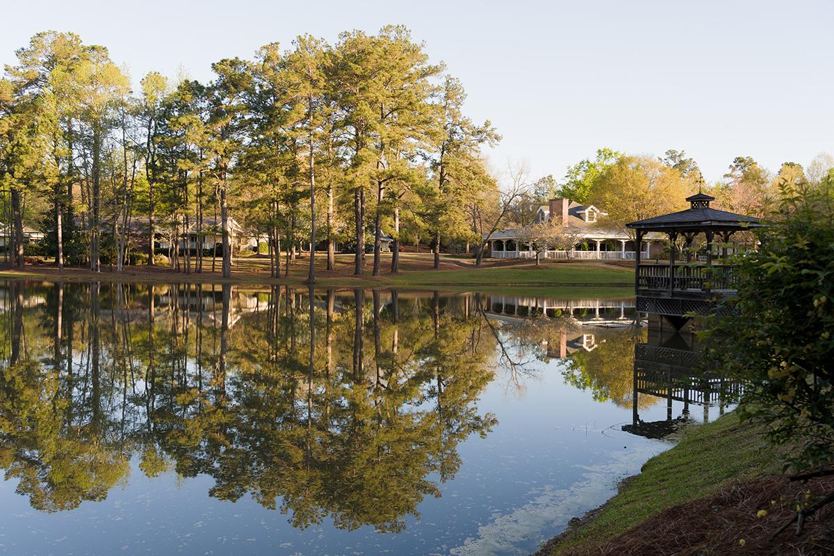 Lake outside of Brandon Wilde retirement community