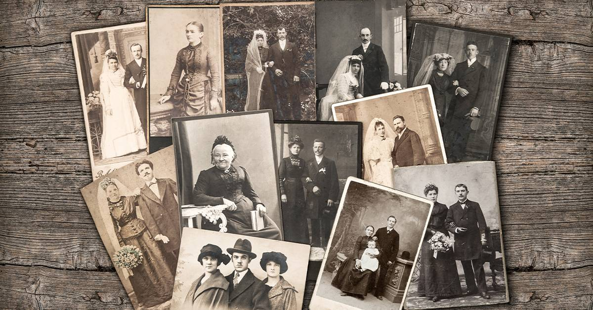 collage of old black and white photos