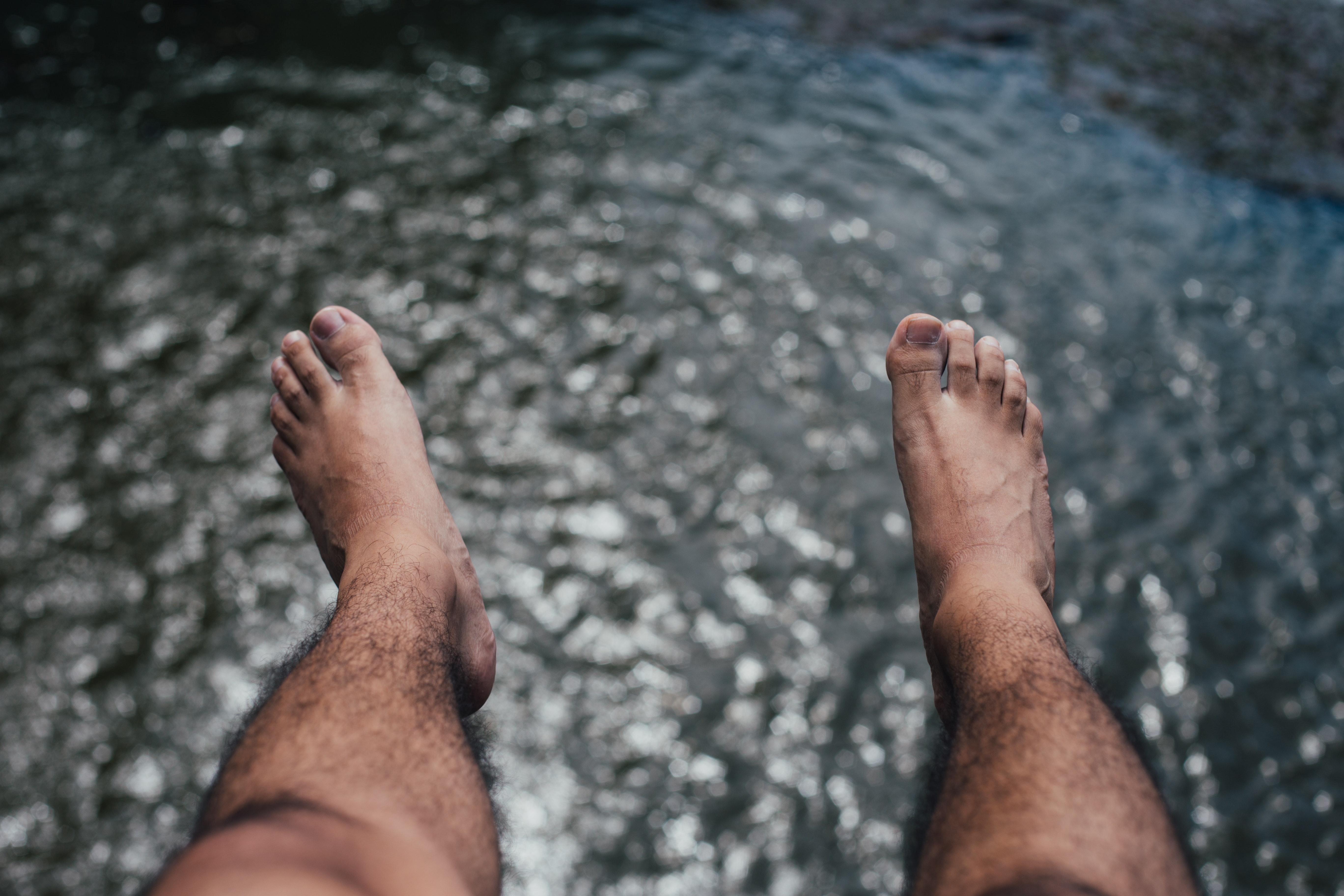 Male sexy hairy legs feet sorry