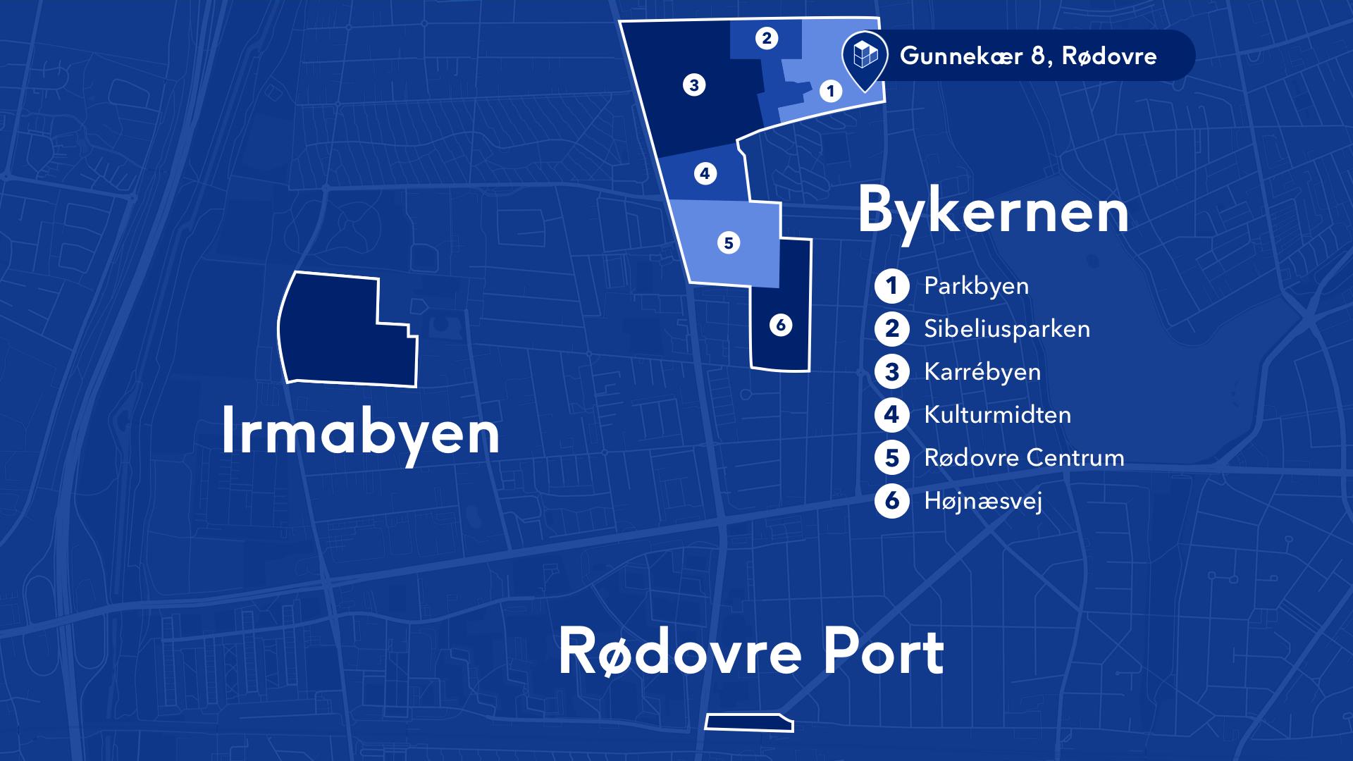 Der er flere områder i Rødovre, hvor der foregår byudvikling i disse tider, og der er flere projekter på vej