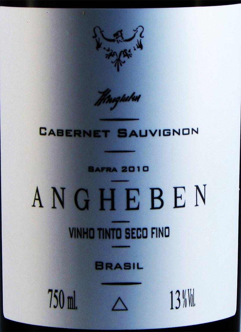 Vinho Tinto Seco Fino CABERNET SAUVIGNON ANGHEBEN 2010