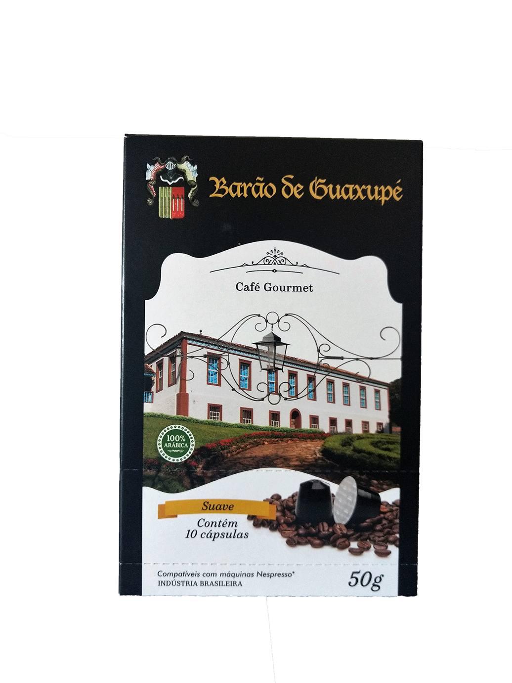 Café Gourmet BARÃO DE GUAXUPÉ cx c/ 10 capsula