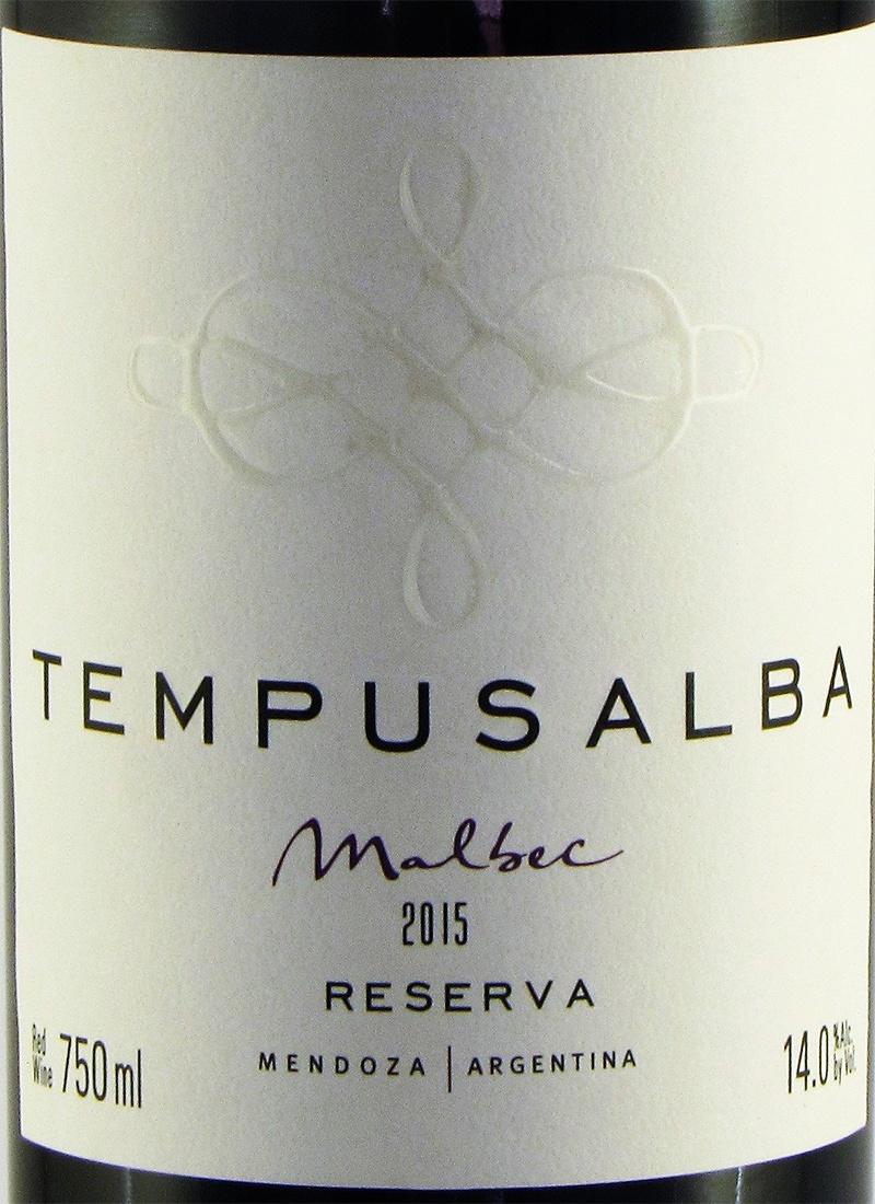 Vinho Tinto Seco Fino MALBEC TEMPUS ALBA RESERVA