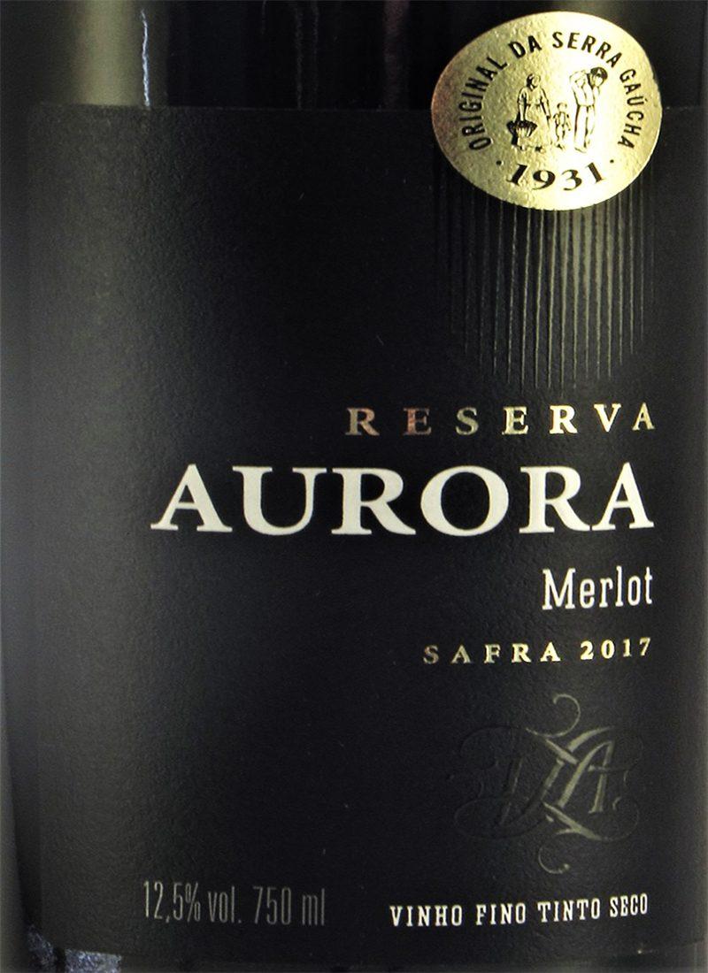 Vinho Tinto Seco Fino MERLOT RESERVA AURORA