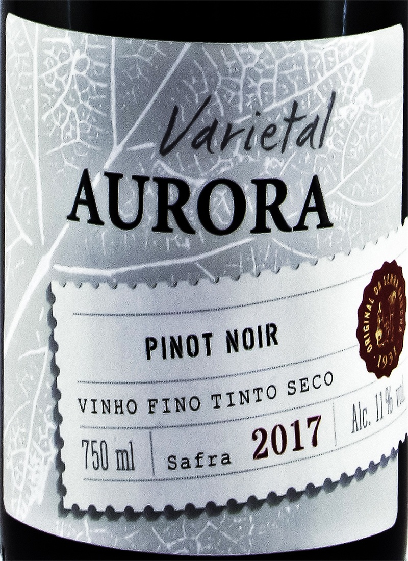 Vinho Tinto Seco Fino PINOT NOIR VARIETAL AURORA