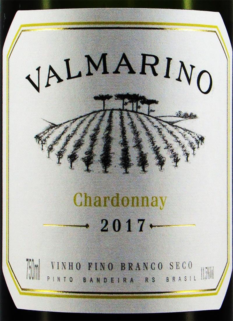Vinho Branco Seco Fino CHARDONNAY VALMARINO 2017