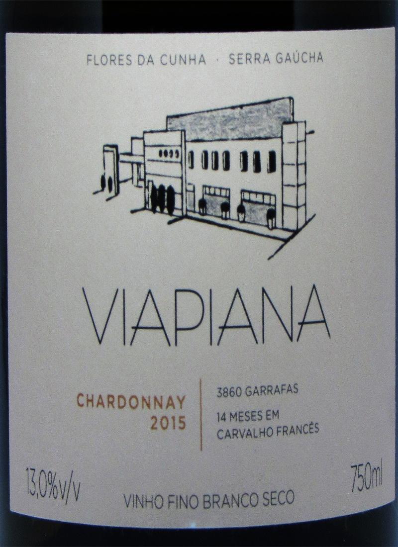 Vinho Branco Fino CHARDONNAY VIAPIANA 2015