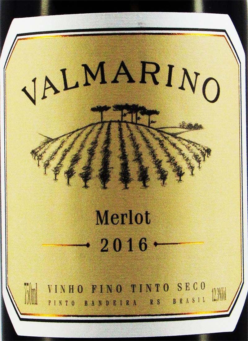 Vinho Tinto Seco Fino MERLOT VALMARINO 2016
