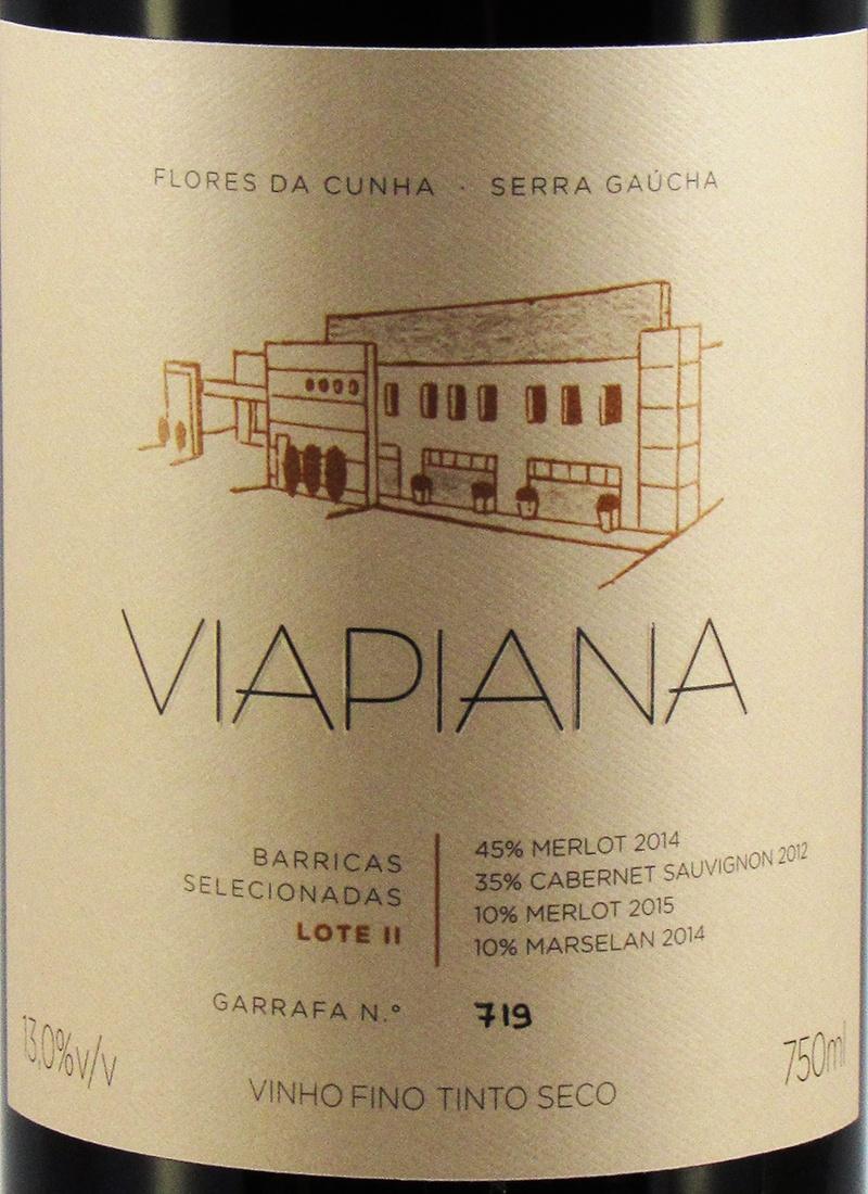 Vinho Tinto Seco Fino BARRICAS SELECIONADAS LOTE II VIAPIANA