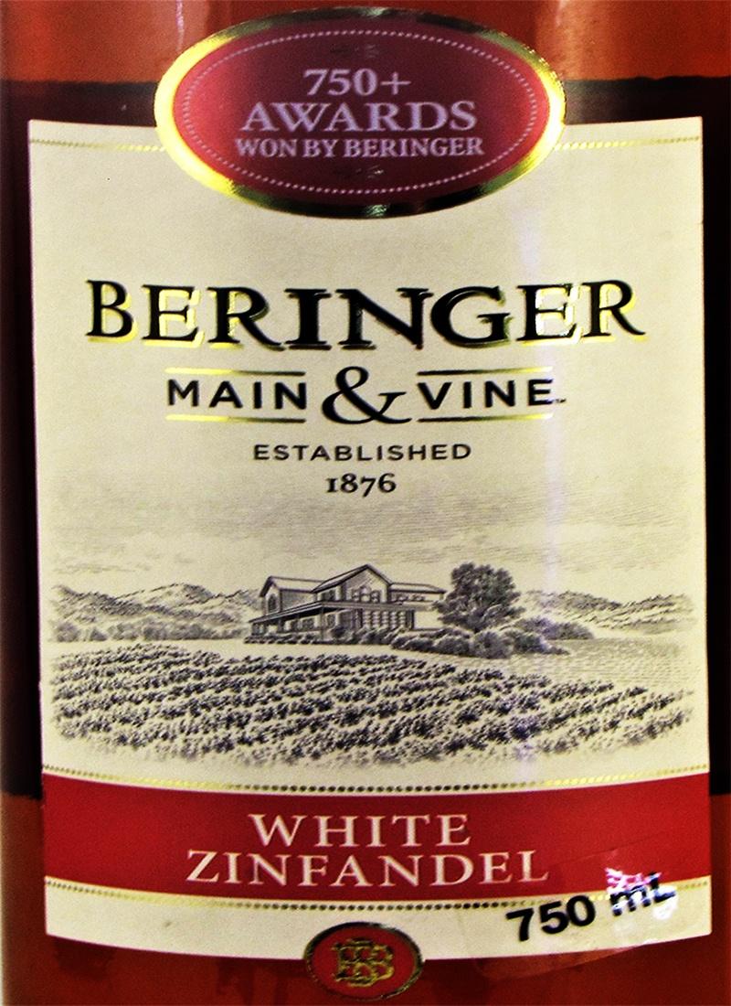 Vinho Rose Fino WHITE ZINFANDEL BERINGER