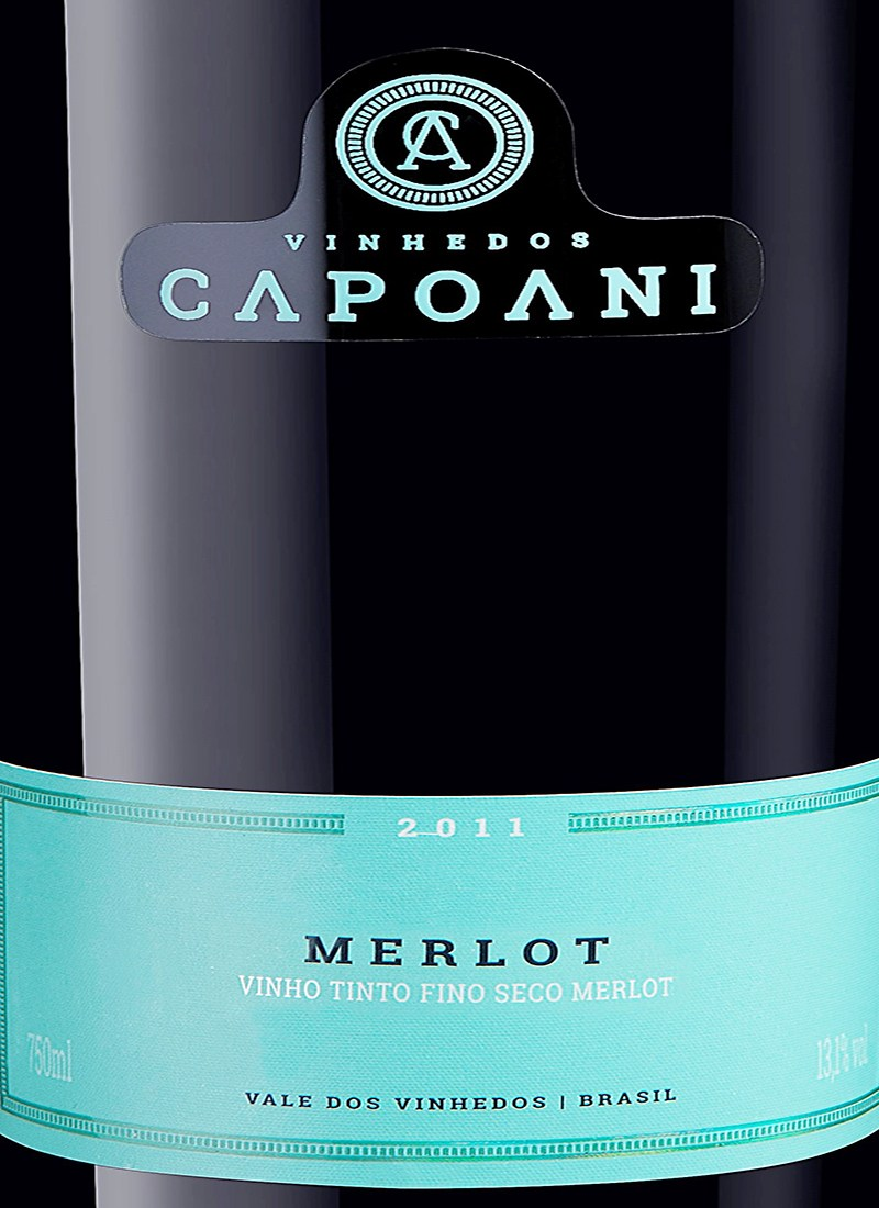 Vinho Tinto Fino Seco MERLOT CAPOANI 2012