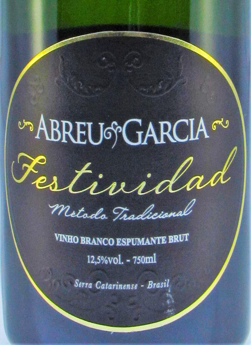 Vinho Branco Espumante Fino BRUT FESTIVIDAD ABREU GARCIA