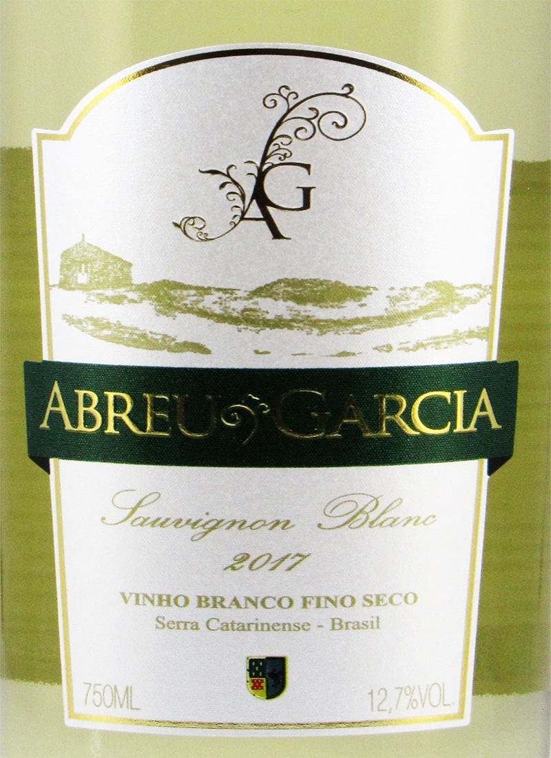 Vinho Branco Fino Seco SAUVIGNON BLANC ABREU GARCIA 2017