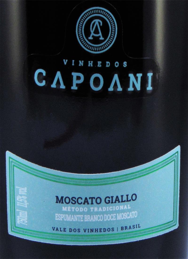 Vinho Premium Espumante Branco Doce CAPOANI 2018 MOSCATO GIALLO