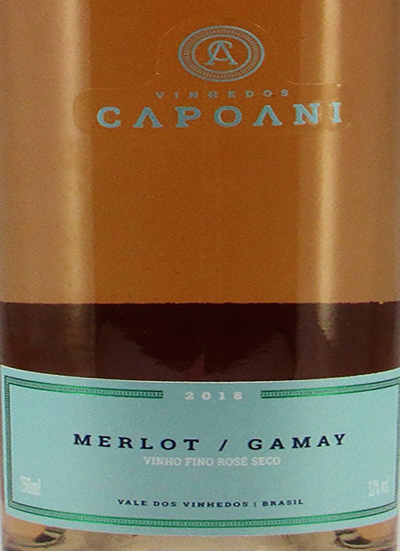 Vinho Rosé Fino MERLOT / GAMAY CAPOANI 2018