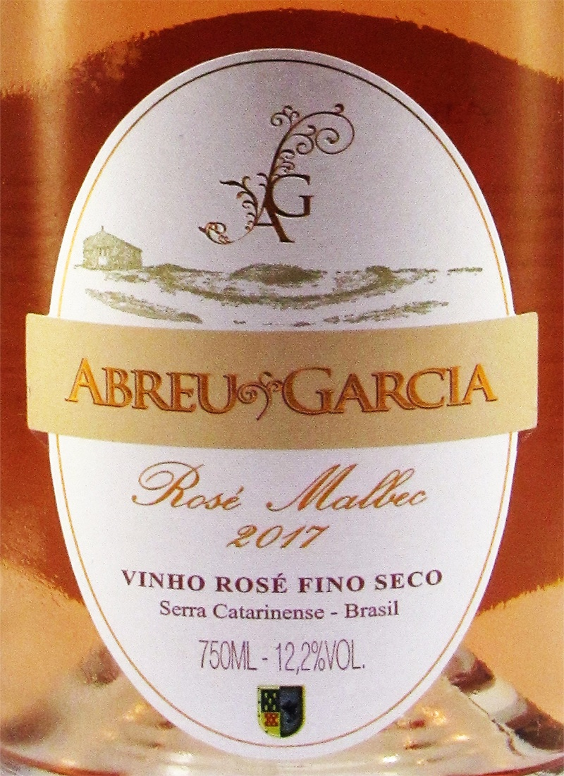 Vinho Rose Fino Seco MALBEC Abreu Garcia 2018