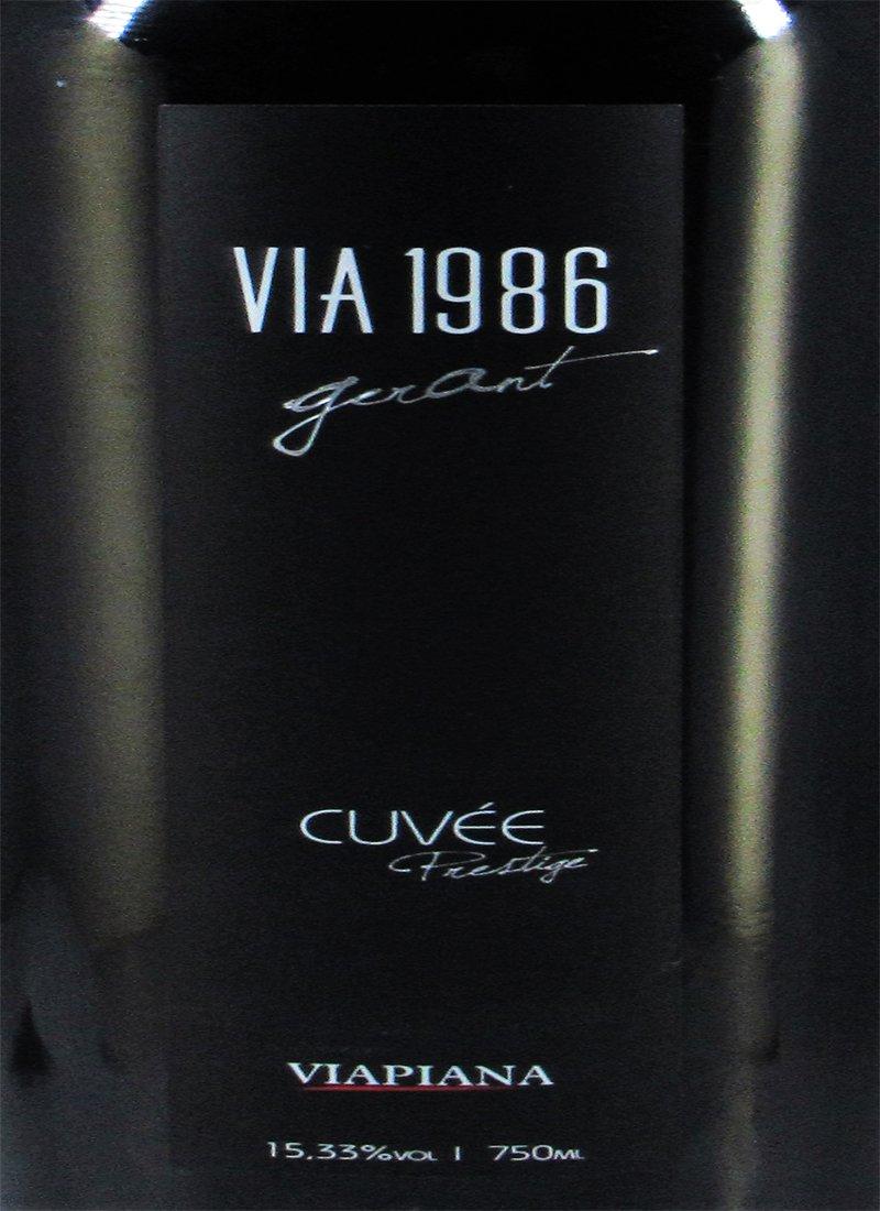 Vinho Tinto Fino Seco VIA 1986 CUVÉE PRESTIGE VIAPIANA
