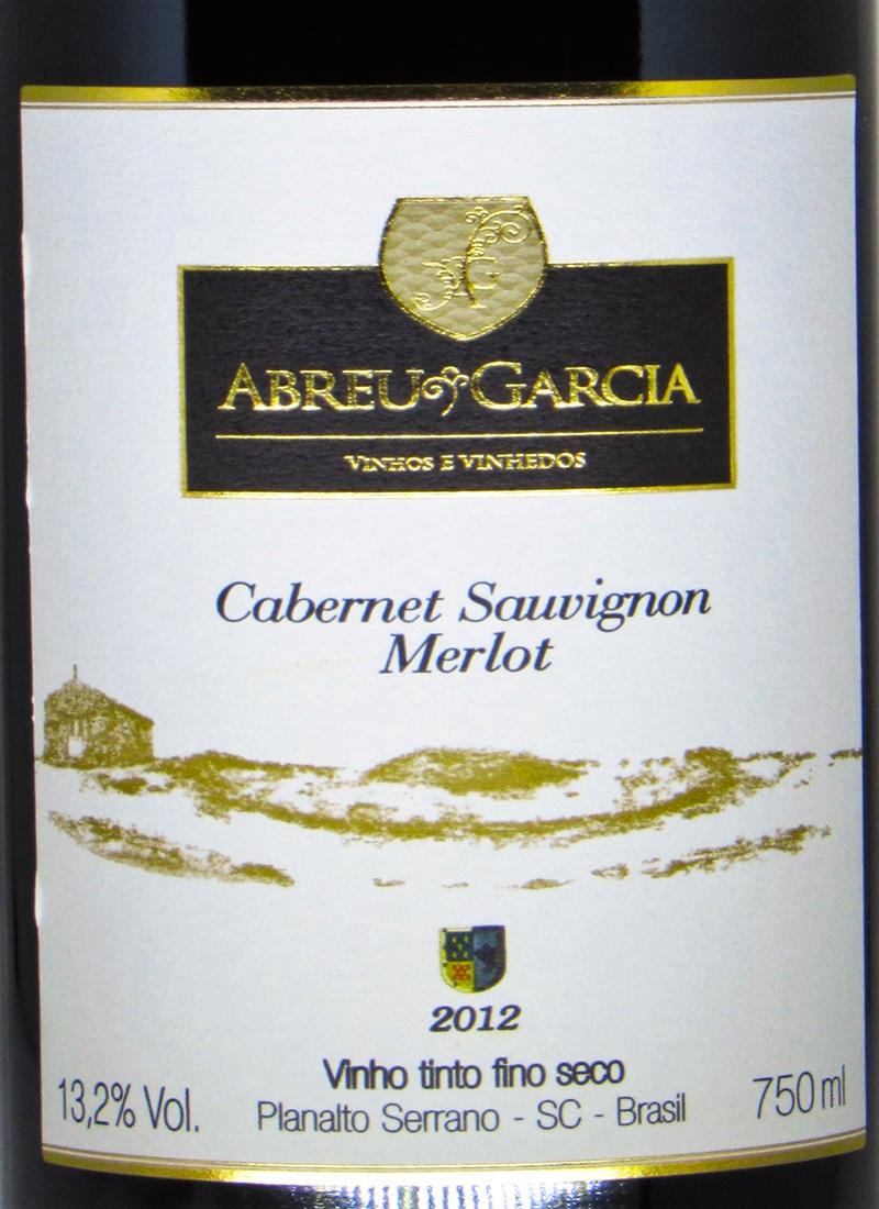 Vinho Tinto Seco Fino CABERNET / MERLOT ABREU GARCIA 2012