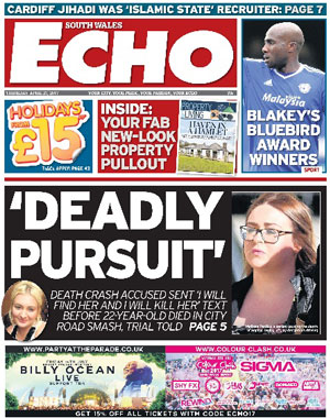 South Wales Echo: South Wales's local newspaper
