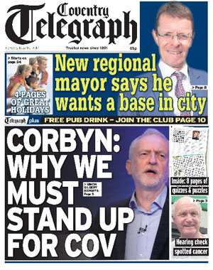 Coventry Telegraph: Coventry's local newspaper