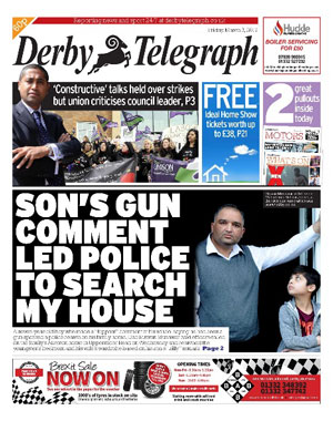 Derby Telegraph: Derby's local newspaper