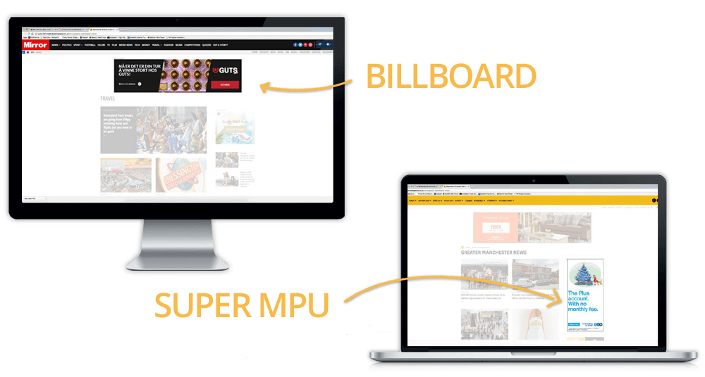 Billboard and Super MPU Digital Ads