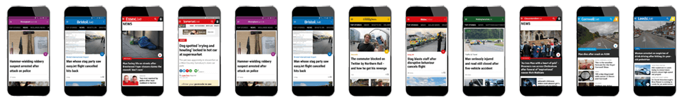 Local and regional online content news and information websites