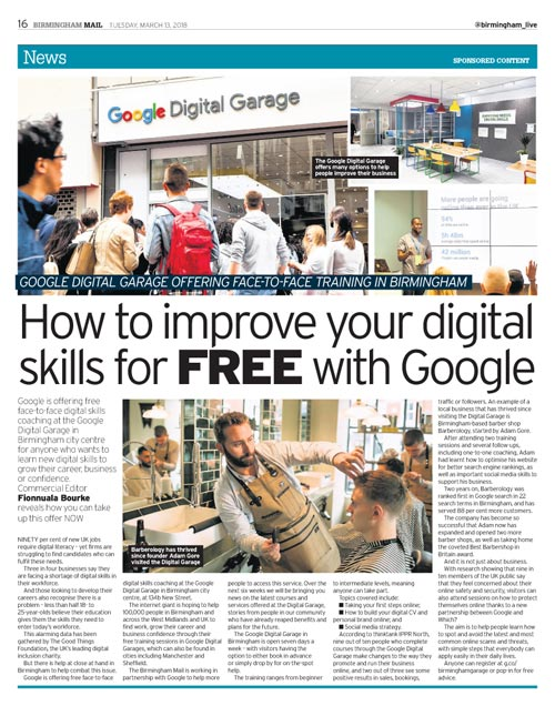 Improve your digital skills for FREE with Google Digital Garage