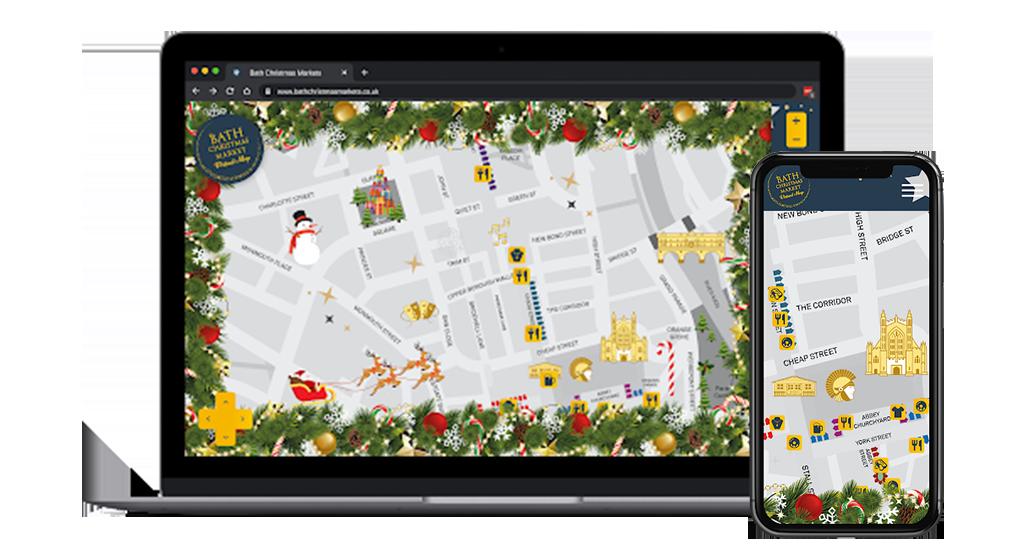 Virtual Christmas Map