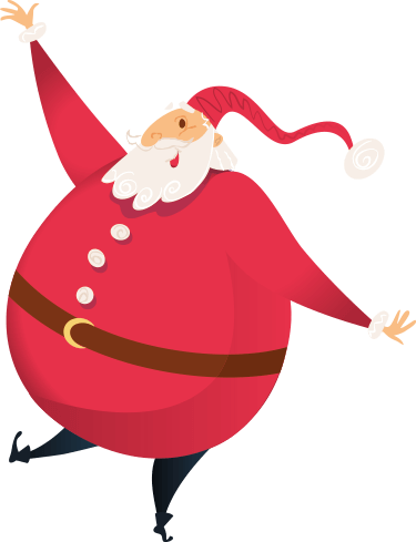 Father Christmas with folded arms