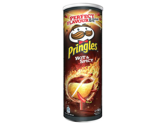 Chips hot & spicy 165 g Pringles