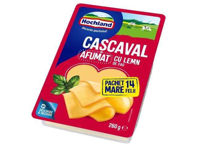 Cascaval felii afumat 260g Hochland