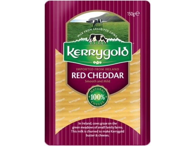 Cheddar rosu felii 150 g Kerryg