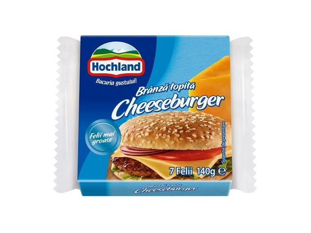 Branza topita felii Cheeseburger 140g Hochland