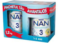 Pachet lapte praf pentru copii sugari 12 luni+ Nestle Nan 3 800g+400g